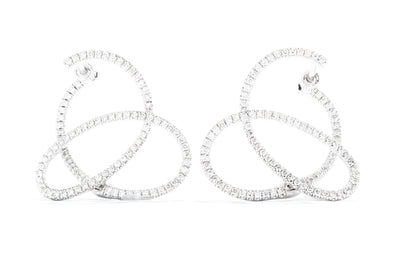 Gabriel New York 14K White Gold .68ctw Diamond Twirl Hoop Earrings EG13177W45JJ