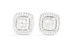 Gabriel New York 14K White Gold .18ctw Diamond Twisted Cluster Stud Earrings EG11556W45JJ