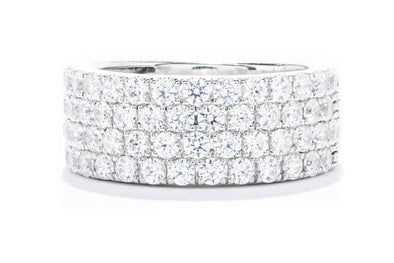Adele Diamond 14K White Gold 2.05ctw Diamond Four Row Wedding band