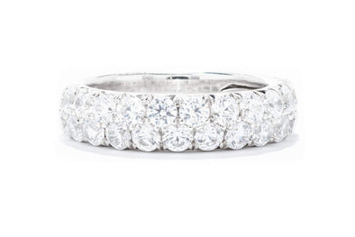 Diamonds Forever 14K White Gold 2ctw Diamond Two Row Wedding band