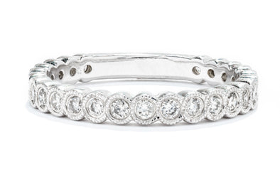 Gabriel New York 14K White Gold .45ctw Diamond Stackable Ring