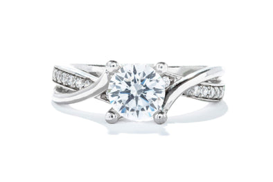 Adele Diamond 14K White Gold 1ct Diamond Contemporary Engagement Ring