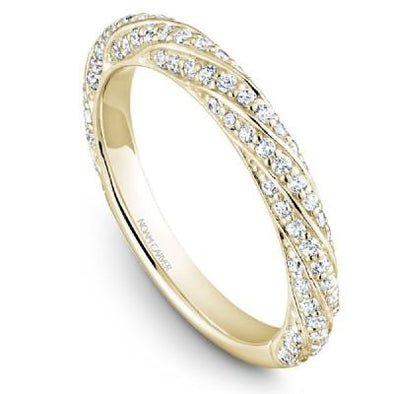 Noam Carver 18K Gold Stackable Ring - 86 Round Diamonds STB23-1S-D