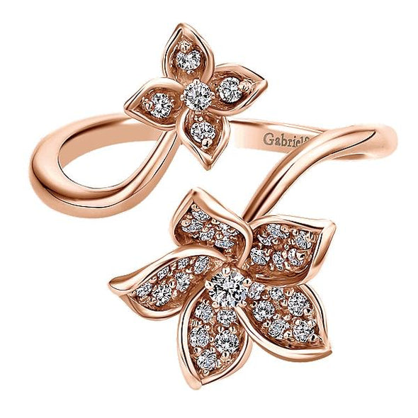 Gabriel NY Ladies 14K Pink Gold Diamond Fashion Ring LR50640K45JJ