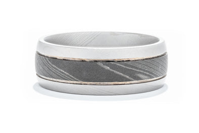 Lashbrook Damascus Men's Wedding Band with Acid Finish D8D2.5