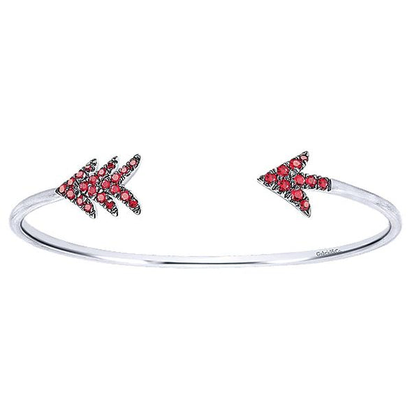 925 Silver And Ruby Bracelet