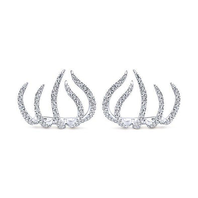 Gabriel NY 14K White Gold Kaslique Diamond Earrings - EG13183W45JJ