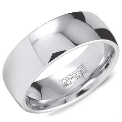 Gents White Cobalt Wedding Band Classic TDCW8 (8mm)
