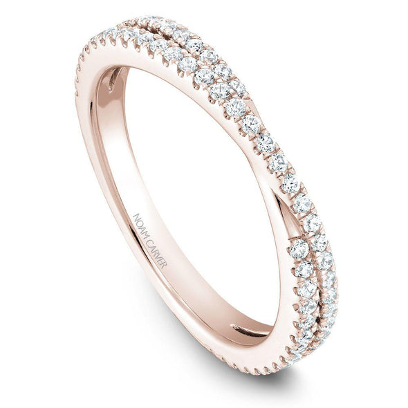 Noam Carver 14K Gold Stackable Ring - 67 Round Diamonds STB13-1M-D