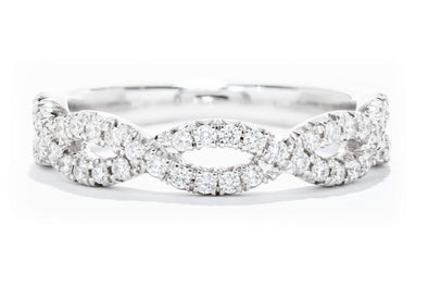 Diamonds Forever 14K White Gold Diamond Band with Infinity Design