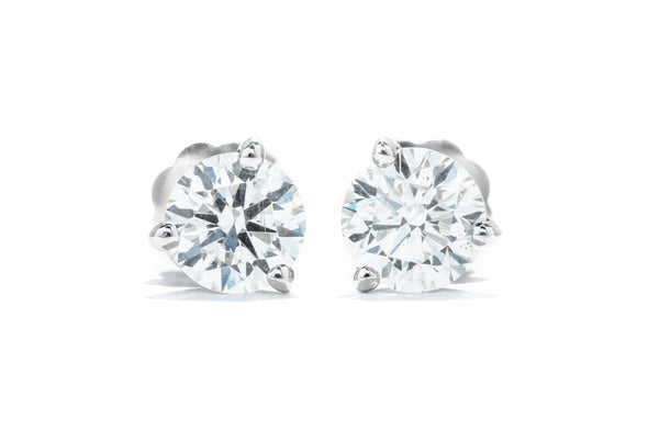 Adele Diamond 14K White Gold .77ctw Diamond Martini Stud Earrings M111426