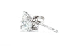 14K White Gold 1/3CT. TW. Diamond Martini Stud Earrings