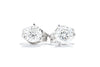 Adele Diamond 14K White Gold .25ct Diamond Martini Stud Earrings M11265