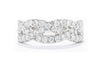 14K White Gold Ladies 1CTW Diamond Braided Design Ring
