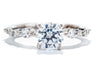 Unique Settings of NY 14K White Gold Contemporary Engagement Ring R02053