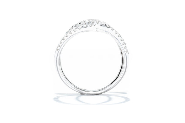 Adele Diamond 18K White Gold .62ctw Diamond Long Overlapping Ring R053568