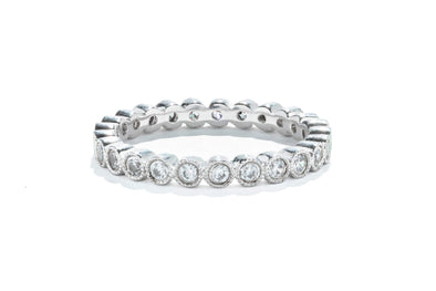 Gabriel & Co 14K White Gold 0.45ctw Diamond Victorian Eternity Band