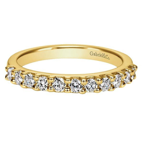 Ladies 14K Yellow Gold Straight Anniversary Band