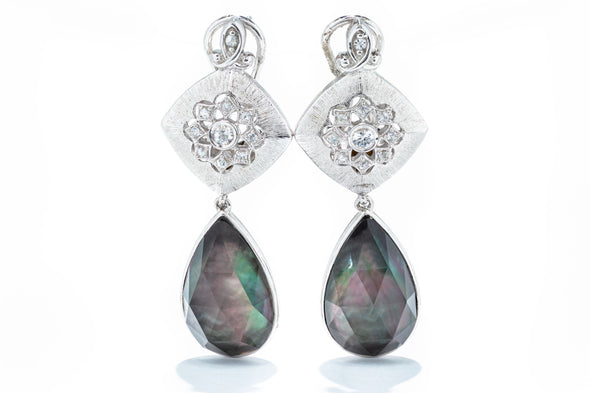 Gabriel & Co. Sterling Silver Multicolor Stone Drop Earrings