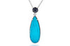 Silver Turquoise Drop Necklace