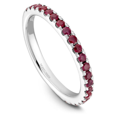 Noam Carver Platinum Stackable Ring - 24 Round Ruby's STA3-1WZ-R