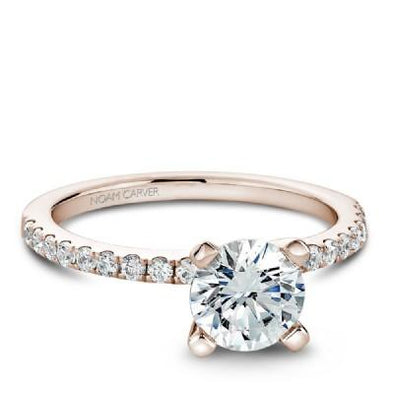 Solitaire Diamond Band Engagement Ring