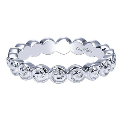 Gabriel NY Ladies 925Silver Stackable Band LR6765-7SVJJJ