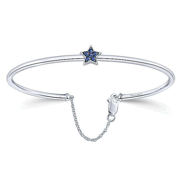 925 Silver And Star Sapphire Bracelet