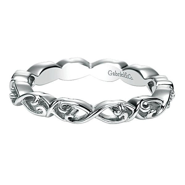 Gabriel NY Ladies 925Silver Stackable Band LR6763-7SVJJJ