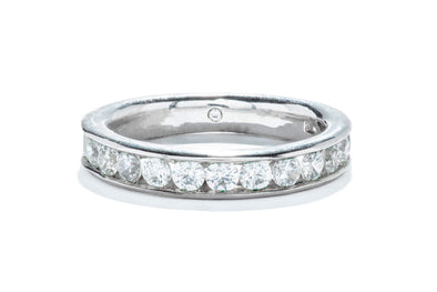 Gabriel & Co 14K White Gold .96ctw Round Contemporary Channel Set Band