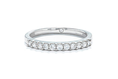 Gabriel & Co 14K White Gold 0.23ctw Round Contemporary Diamond Band