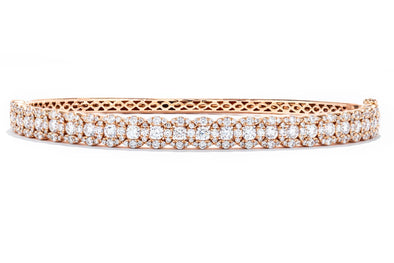 Adele Diamond 14K Rose Gold 2.32ctw Diamond Bangle IGC068666