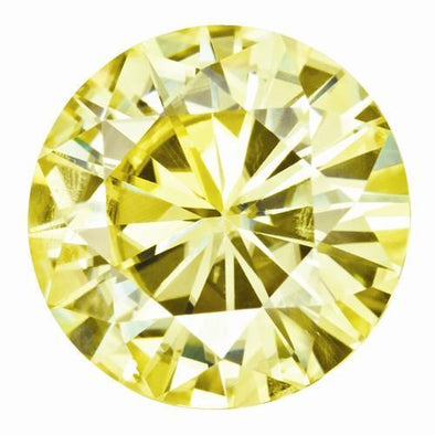 Moissanite 6mm-7.5mm Yellow Round Shape Certified USA