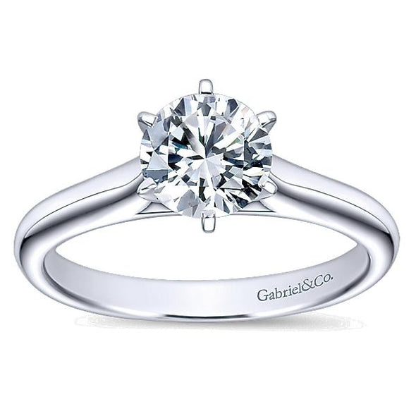14K Classic 6-Prong Solitaire Engagement Ring