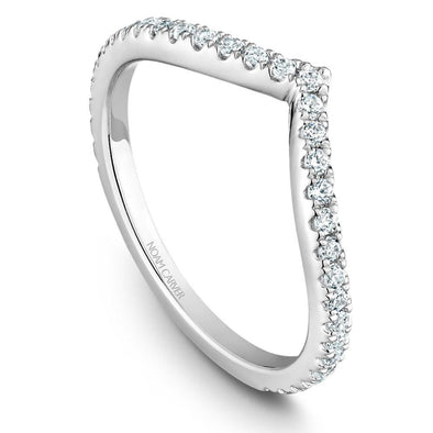 Noam Carver Platinum Stackable Ring - 33 Round Diamonds STB12-1WZ-D