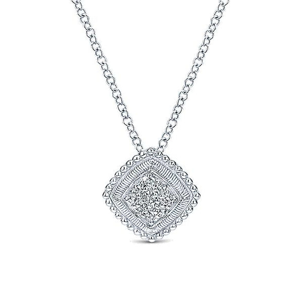 925 Silver Diamond Fashion Necklace
