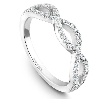Noam Carver Platinum Stackable Ring - 56 Round Diamonds STB24-1WZ-D