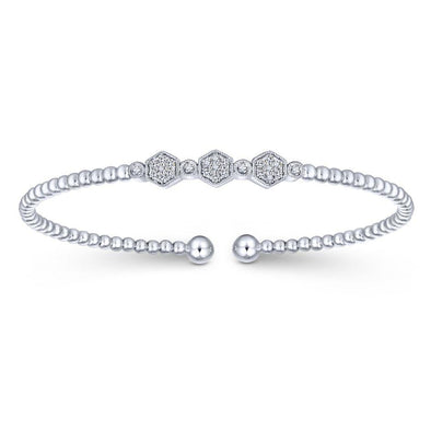 Gabriel NY 14k White Gold Diamond Bujukan Bangle