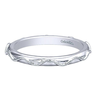 Gabriel NY Ladies 925Silver Stackable Band LR5963-6SVJJJ