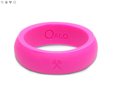 Ladies QALO Quality Pink Silicone Band