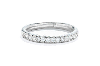 Gabriel & Co 14K White Gold 0.24ctw Diamond Contemporary Anniversary Band