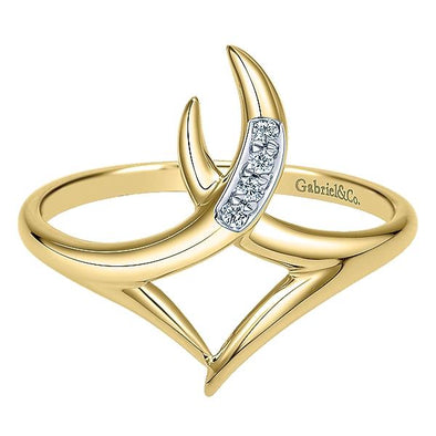 Gabriel NY Ladies 14K Yellow Gold Diamond Midi Ring LR50535Y45JJ