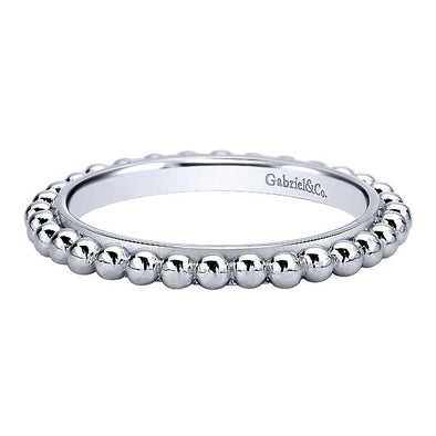 Gabriel NY Ladies 925Silver Stackable Band LR5973-7SVJJJ