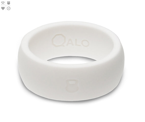 Gents QALO Athletics White Silicone Band
