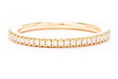 Elegant Round Diamond Cut Wedding Band in 14K Yellow Gold