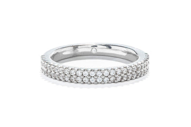 Gabriel New York 14K White Double Rows Contemporary Diamond Band
