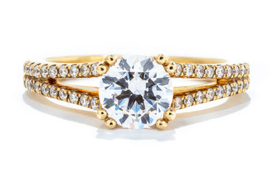Noam Carver 14K Yellow Gold Split Shank Engagement Ring B001-03YA