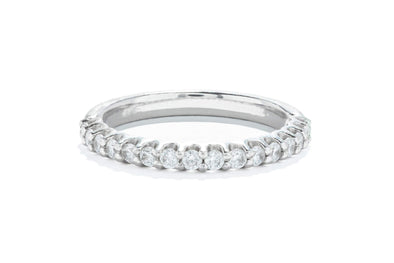 Noam Carver 14K White Gold 0.51ctw Diamond Contemporary Wedding Band