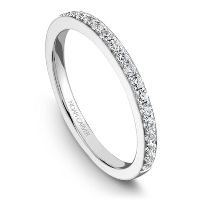 Noam Carver 14K White Gold Classic Wedding Band B019-01B
