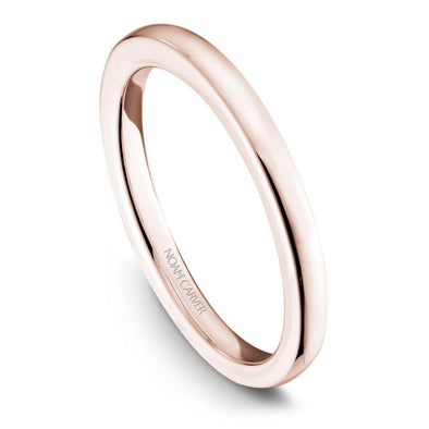 Noam Carver 14K Rose Gold Classic Wedding Band B095-01RB